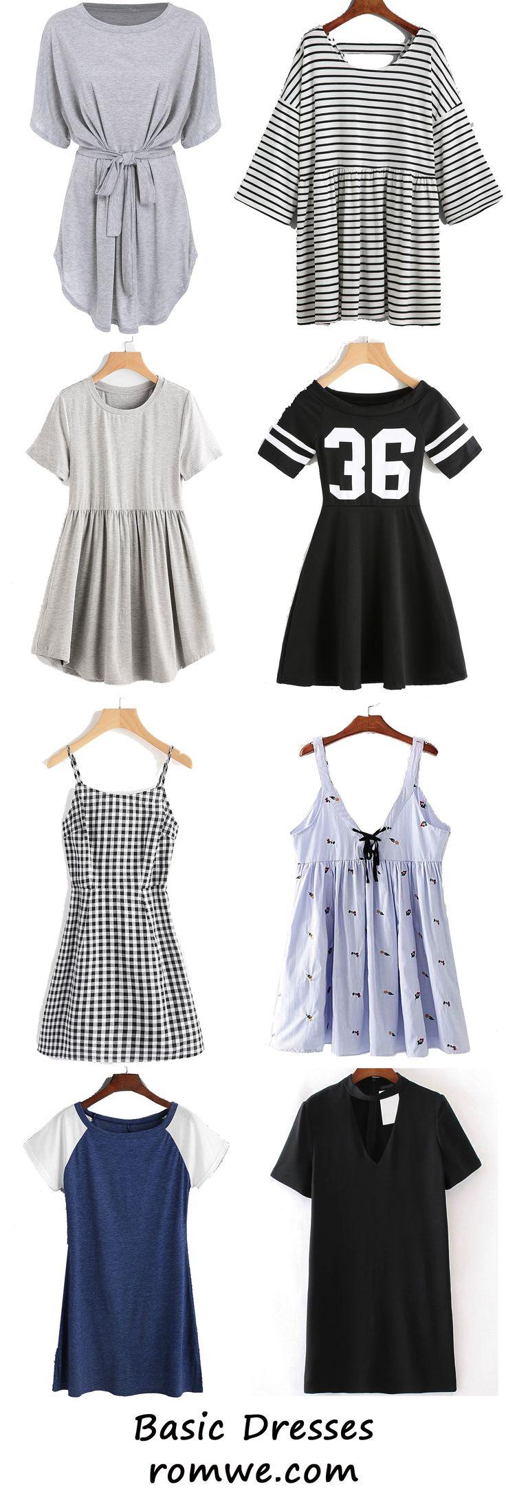 Chic Basic Dress - romwe.com