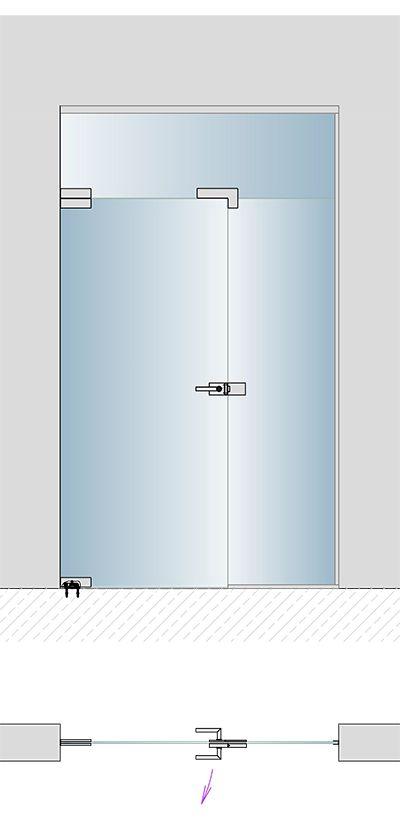 Glasportal für Hausflur als Windfang oder Raumteiler mit Glastüren   BE GLASS, Berlin