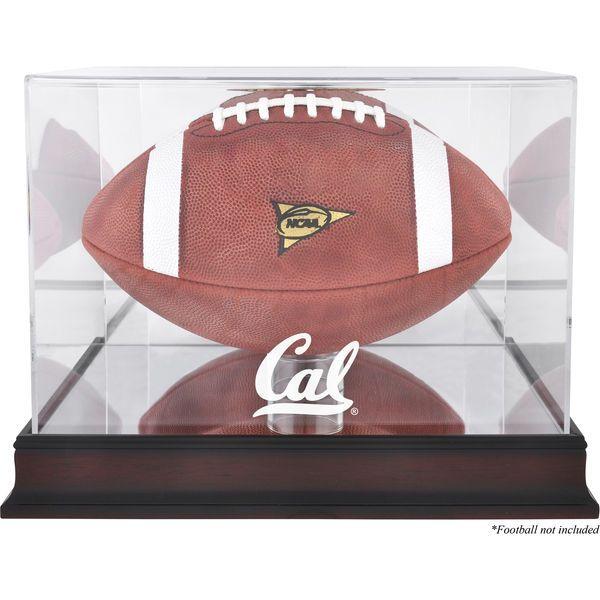 California Bears Fanatics Authentic Mahogany Base Logo Football Display Case with Mirror Back - $79.99