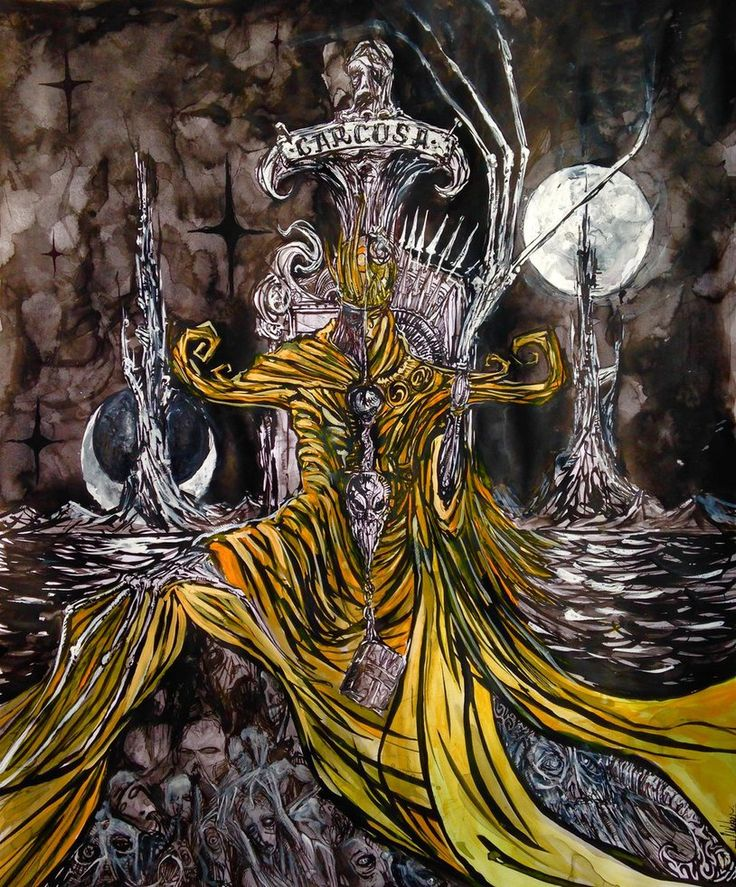 """The King in Yellow,"" my take on Robert W. Chambers' Lord of Carcosa from the novel of the same name. Jon Weber (2014) www.jonweberart.squarespace.com Instagram: jonweber8  www.facebook.com/jonweberart   #carcosa #dark #death #dream #fantasy #fantasyart #gothic #horror #horrorart #thekinginyellow #yellowking #robertwchambers #theyellowking #roberchambers #jonweber #jonweberart #jonweberdrawing #cassildassong #macabre #macabrehorror"