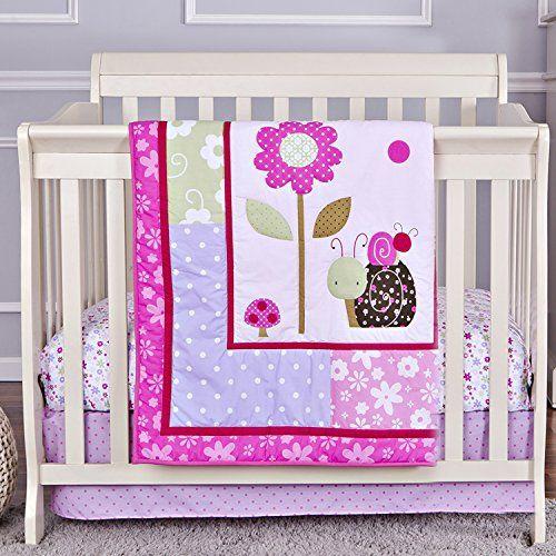 Dream On Me 3 Piece Set Reversible Portable Crib Bedding Set Spring Time S Izobrazheniyami