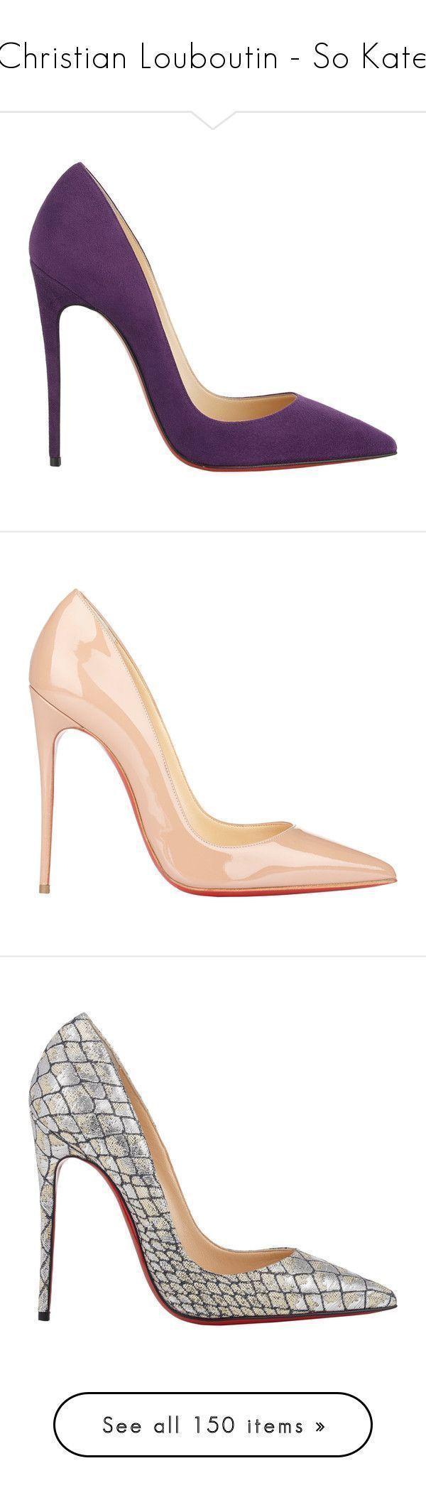 """""""Christian Louboutin - So Kate"""" by giovanna1995 ❤ liked on Polyvore featuring Pumps, christianlouboutin, sokate, shoes, pumps, heels, christian louboutin, high heels, purple and suede pumps #christianlouboutinsokate #christianlouboutinheels #christianlouboutinpumps"""