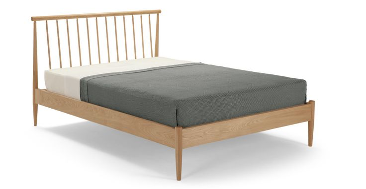 Penn Double Bed, Oak | made.com