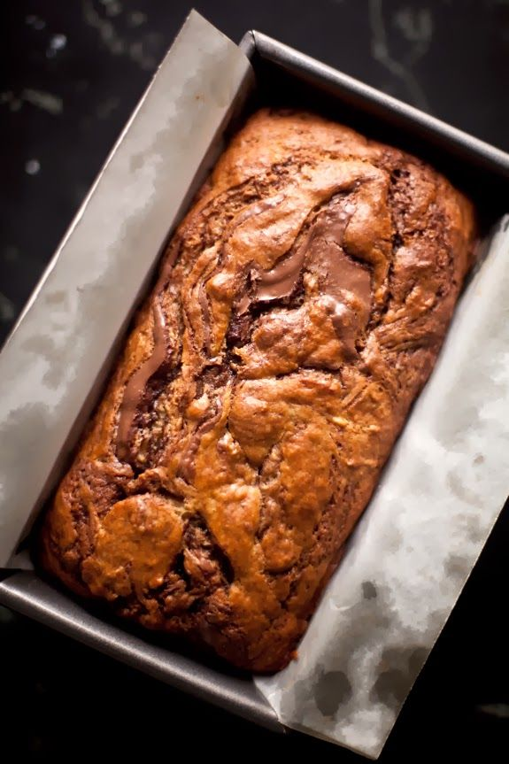 A CUP OF JO: Nutella Swirled Banana Bread