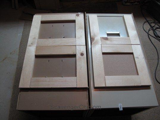 Metal file cabinets get a makeover