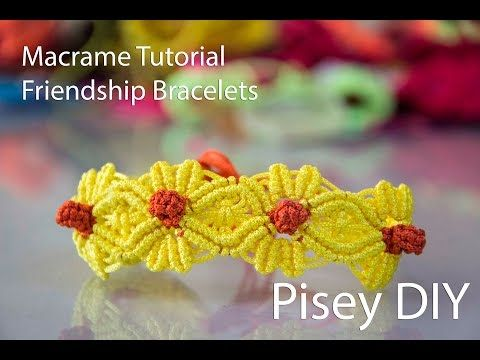 Macramé Flower Macrame Tutorial /Friendship Bracelets / Projects - YouTube