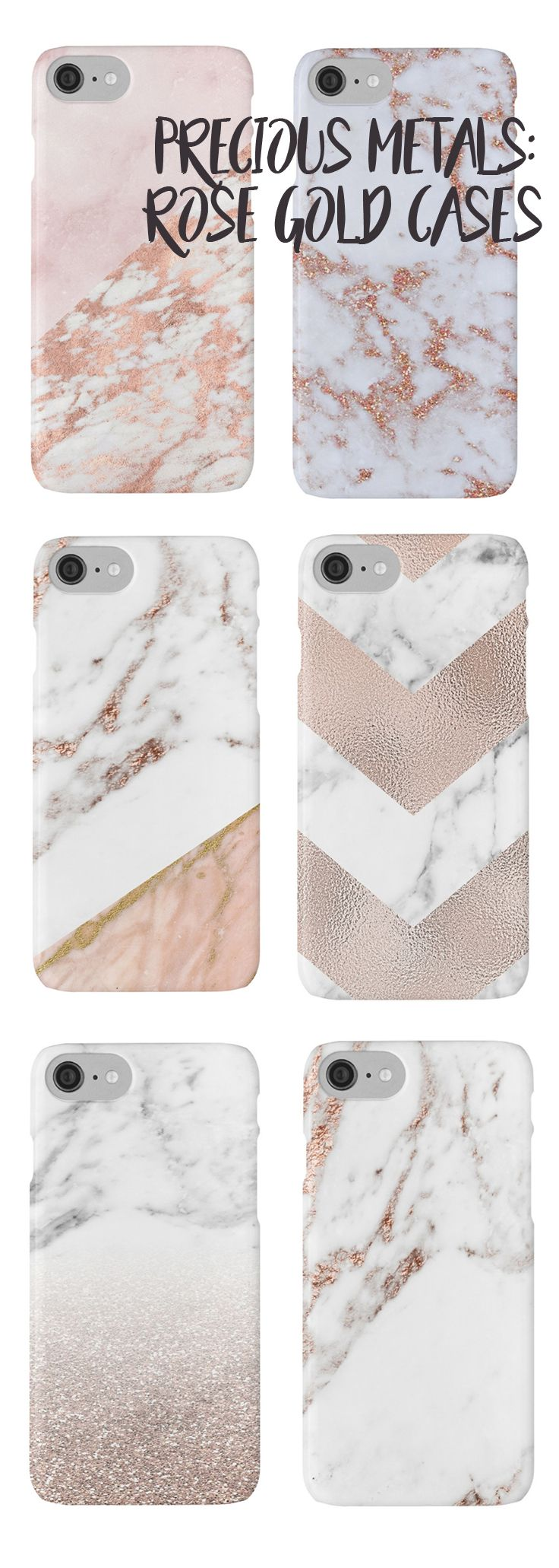Shop here for the most stunning rose gold phone cases - Peggie Prints on Redbubble