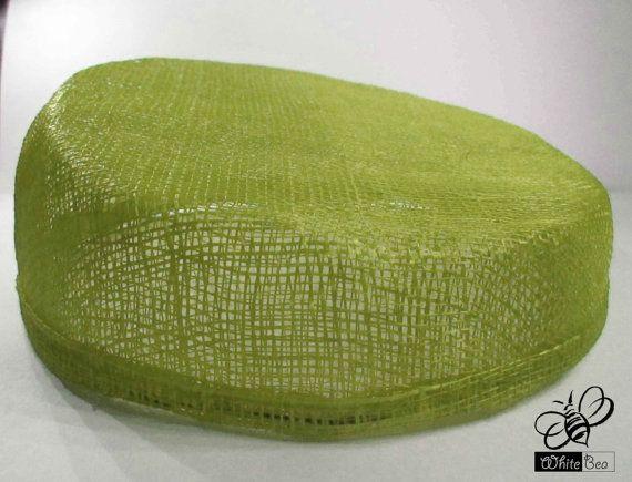 Simamay Fascinator base  Pillbox shape  apple green  by WhiteBea, $15.00