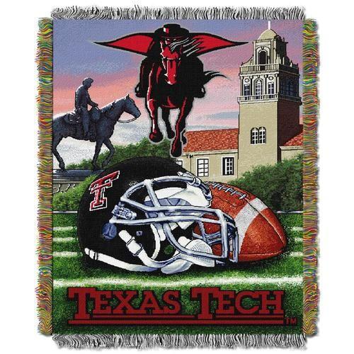 Texas Tech University Throw Blanket Afghan Tapestry