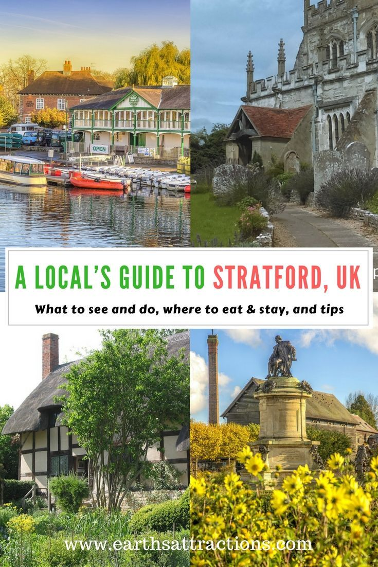 A local's guide to Stratford-upon-Avon, Warwickshire, UK - top attractions in Stratford, hotels in Stratford, restaurants in Stratford, tips for Stratford. #travelguide #travelguides #UK #Britain #Europe #Stratford #Warwickshire