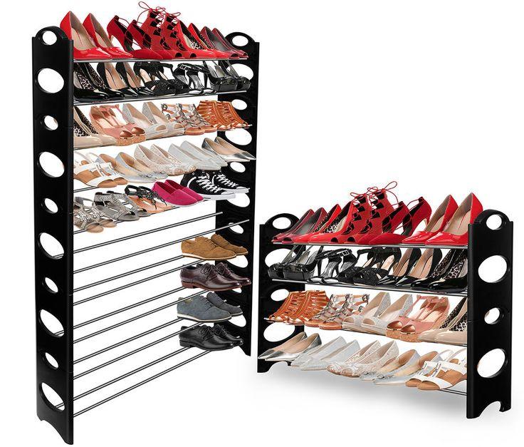 Oxgord Shoe Rack For 50 Pair Wall Bench Shelf Closet