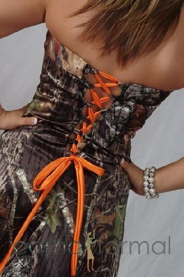I'd make this your bridesmaid dress if it didn't mean I'd have a bridesmaid in a camo dress in my wedding. Lol