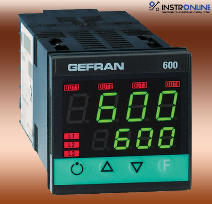 Gefran 600 Configurable Controller Microprocessor controller format 48x48 (1/16 DIN) manufactured using smt.gives a whole operator interface blanketed through a Lexan membrane that ensures level IP65 faceplate protection.