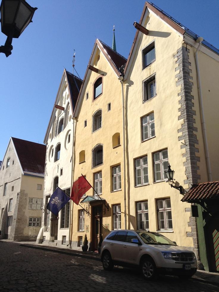 Three Sisters Hotel In Tallinn Estonia