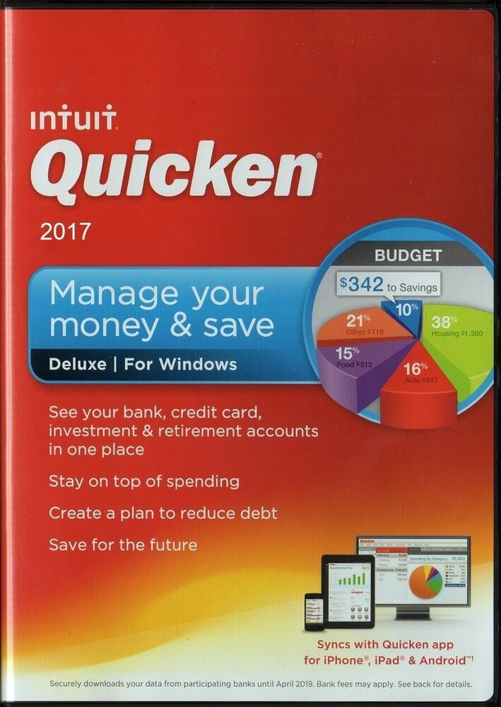 Sponsored Ebay Quicken Deluxe 2017 Personal Finance
