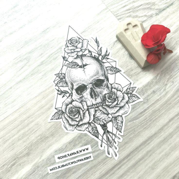 Dotwork Skull Rose Roses Tattoo Design Download Right Now Or Commission Me Www Commission Des Skull Tattoo Design Skull Rose Tattoos Rose Tattoo Design