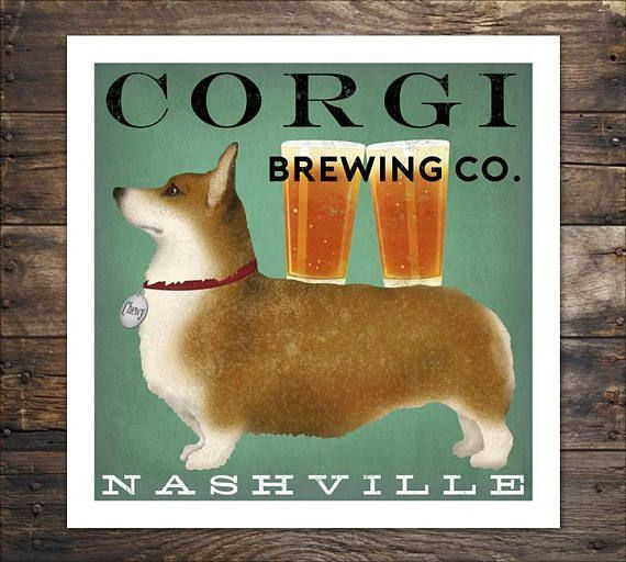 Free Custom Personalized Corgi Print Beer Wine Coffee Tea