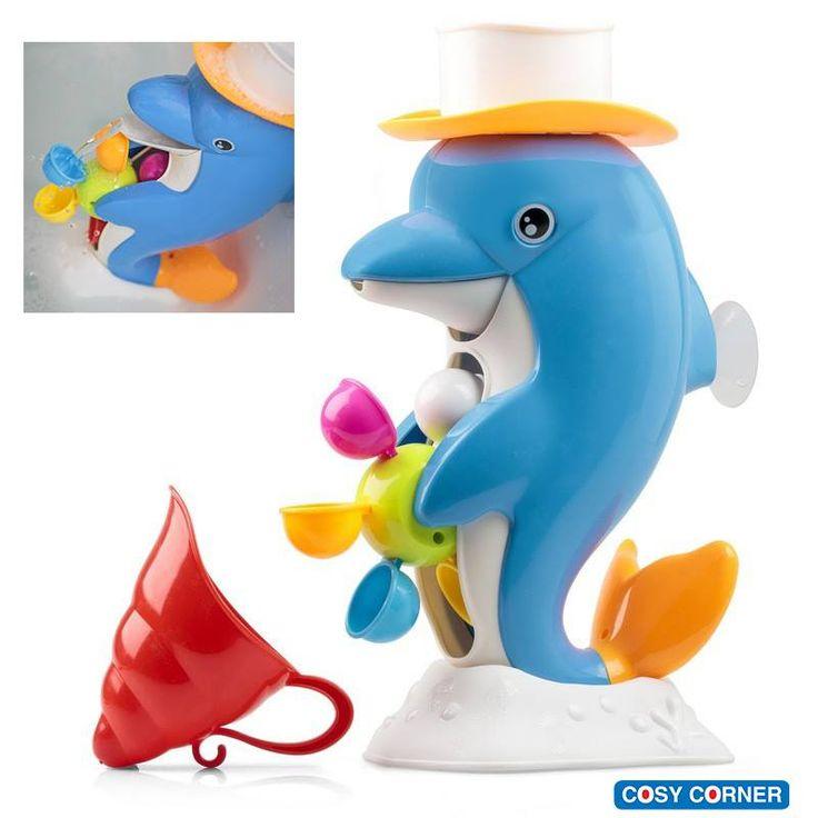 Εκπληκτικά διασκεδαστικό παιχνίδι μπάνιου! Νερόμυλος σε σχήμα δελφινιού. 17,95€ https://goo.gl/agVomZ