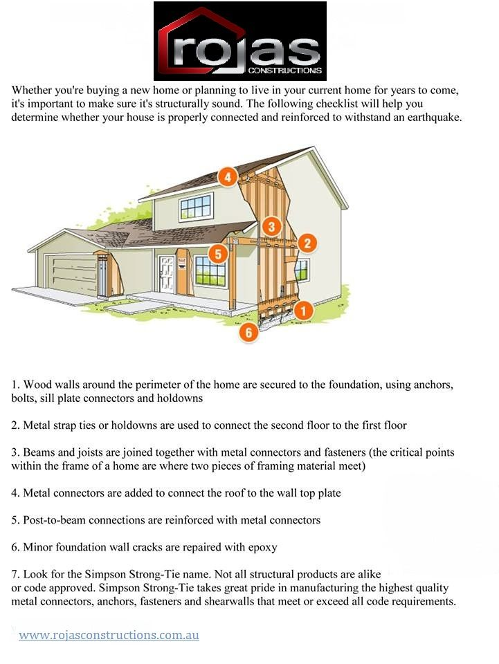 Structural Check List for Earthquake Proofing