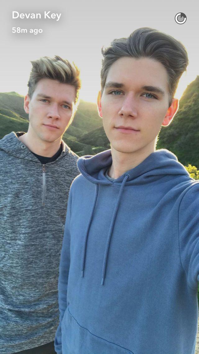 On a hike...