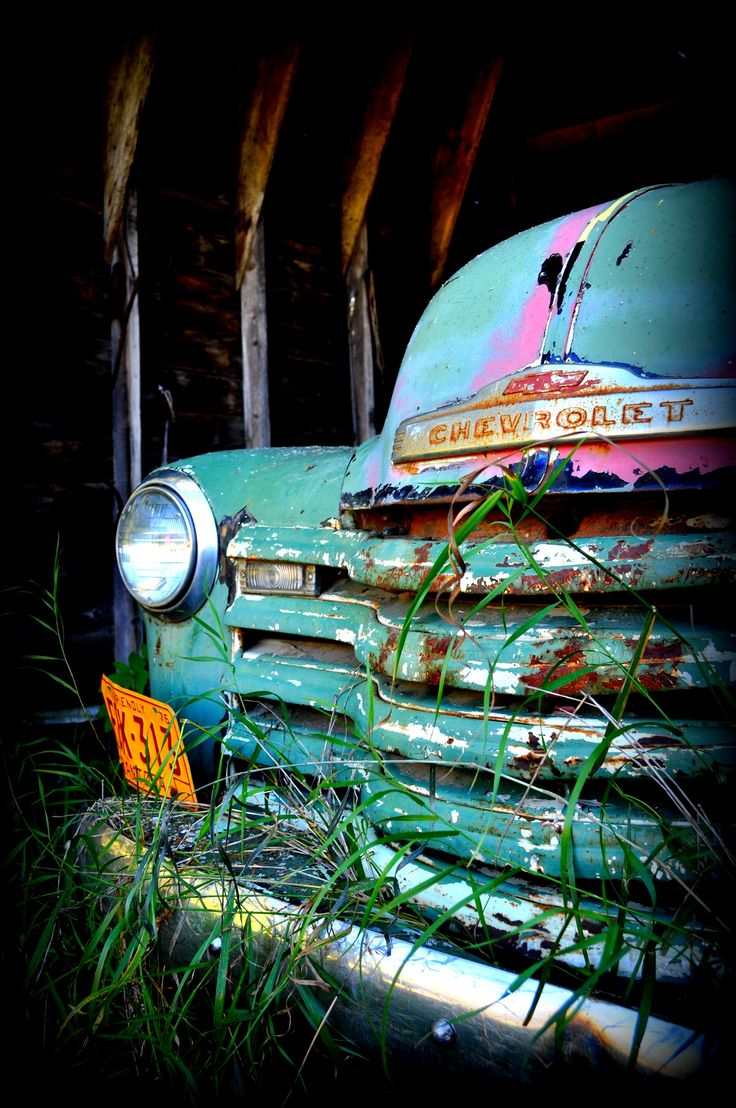 "really like this photo - this is original comment from photographer: ""One of my favorite pictures...found this old truck while exploring an abandoned farmyard near my hometown."""