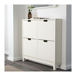 "STÄLL Shoe cabinet with 4 compartments IKEA Helps you organize your shoes and saves floor space at the same time. STÄLL Shoe cabinet with 4 compartments $89.99 Product dimensions Width: 37 3/4 "" Depth: 6 3/4 "" Height: 35 3/8 """