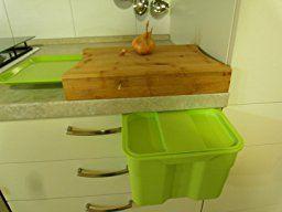 Amazon.de: SO-TECH® BIKI Bio-Müll Abfallbehälter 4, 2 L grau mit Deckel Abfallsammler zum Einhängen Mülleimer Tischmülleimer