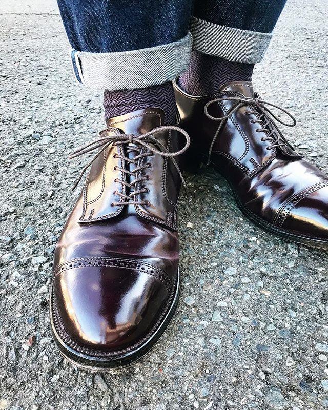 tatsuya_negishi_1986 天気も良くなったのでaldenをチョイス #alden #aldenshoes #alden56201 #56201 #cordvan #horween #horweenleather #no8 #米靴倶楽部 #shoeoftheday 2018/01/24 08:02:54
