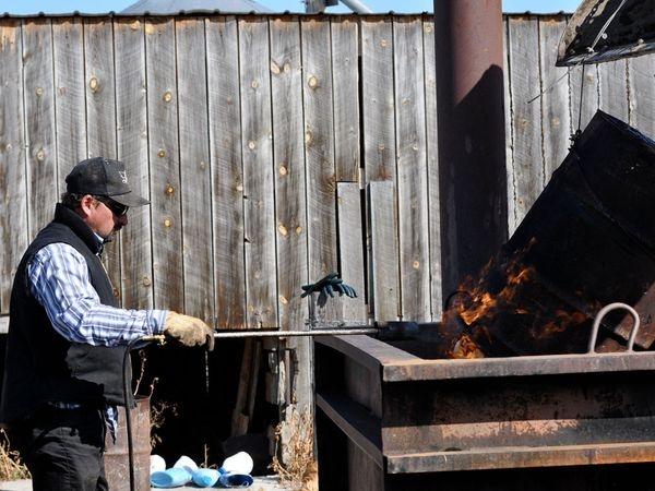 The Hutterites George Hofer making soap.