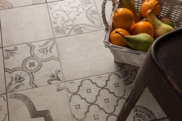 Luciano Patchwork Decor Grey Tiles 20x20cm Our Luciano range is the perfect patchwork choice. Available in 3 different decor colours as well as a plain base tile, these matt porcelain tiles will suit both modern and traditional properties.