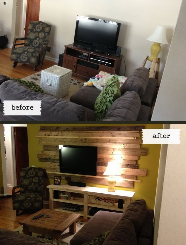 Exceptional Living Room Remodel Wooden Backsplash Makeover On A Budget DIY