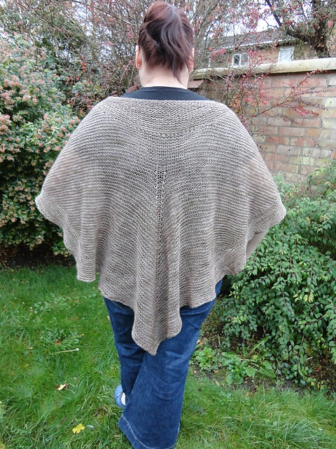 Nemetona - Named for the goddess of the sacred groves, this is a lovely, light but warm shawl, knitted in the same hand-dyed discontinued cashmere that Thunderheads is knitted with.
