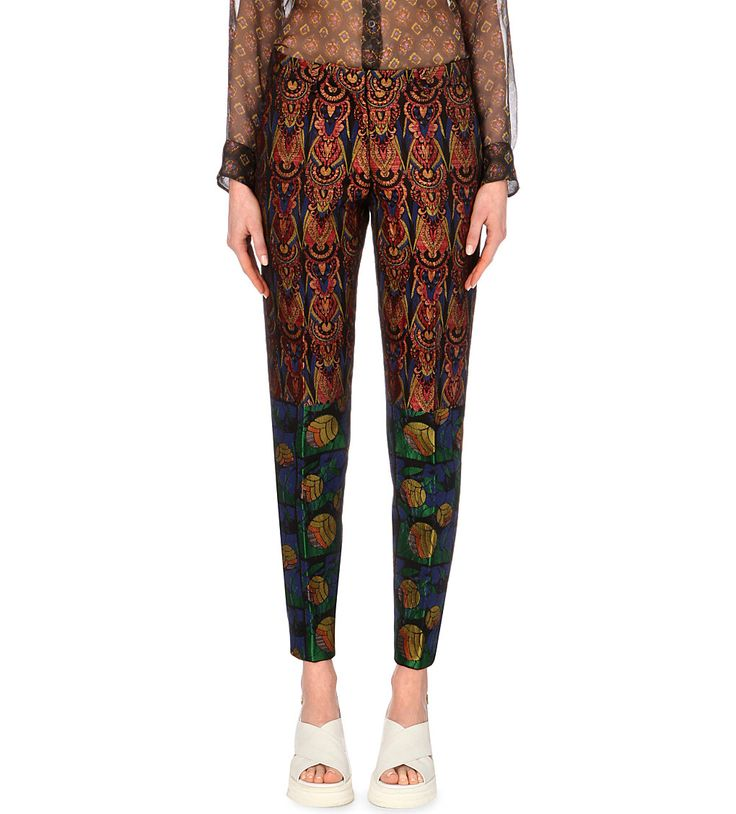 dries van noten perdo metallic jacquard trousers