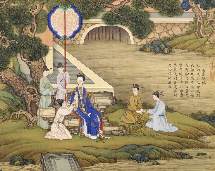历史故事是清代宫廷绘画中的重要题材之一