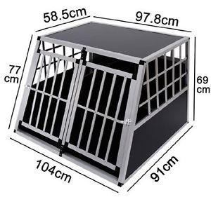 Jaula-De-Transporte-Para-Perros-De-Aluminio-Con-Tabique-Hermetico-Estraible-XXL