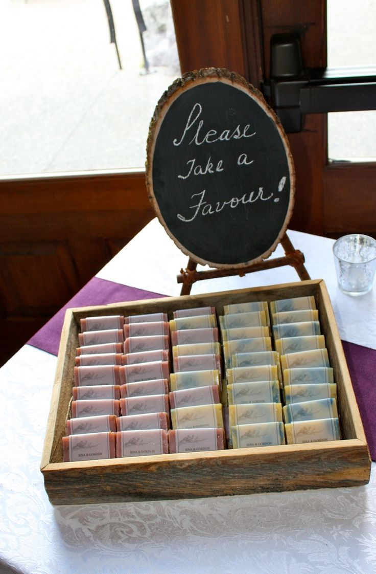 Favour Your Wedding Guests With Handmade Soaps See More Homemade Favor And Party
