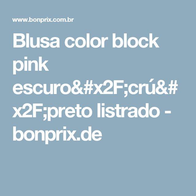 Blusa color block pink escuro/crú/preto listrado - bonprix.de