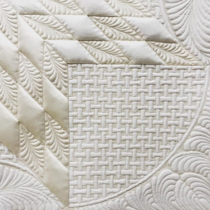 Detail #whiteonwhite #texture #longarmquilting #machinequilting #fmq #quilting #weddingdress #recycle