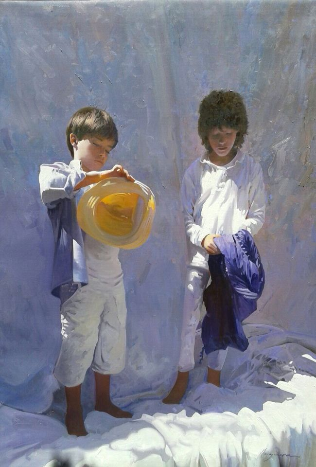 Summer by Jose Higuera 116x81 cm. oil on canvas Spain http://www.josehiguera.com http://www.facebook.com/joseyhiguera