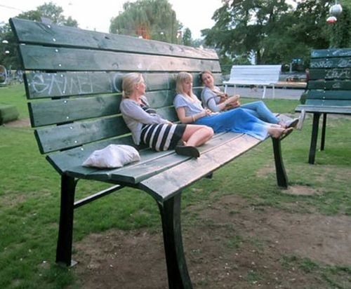 Mind = Blown: Interesting Things, Thinking Big, Buckets Lists, Berlin Streetart, Little People, Parks Benches, Mr. Big, Huge Benches, Giant Benches