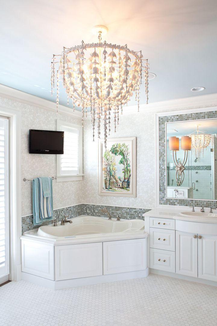 2049 best images about bathroom love on pinterest for Sky blue bathroom designs
