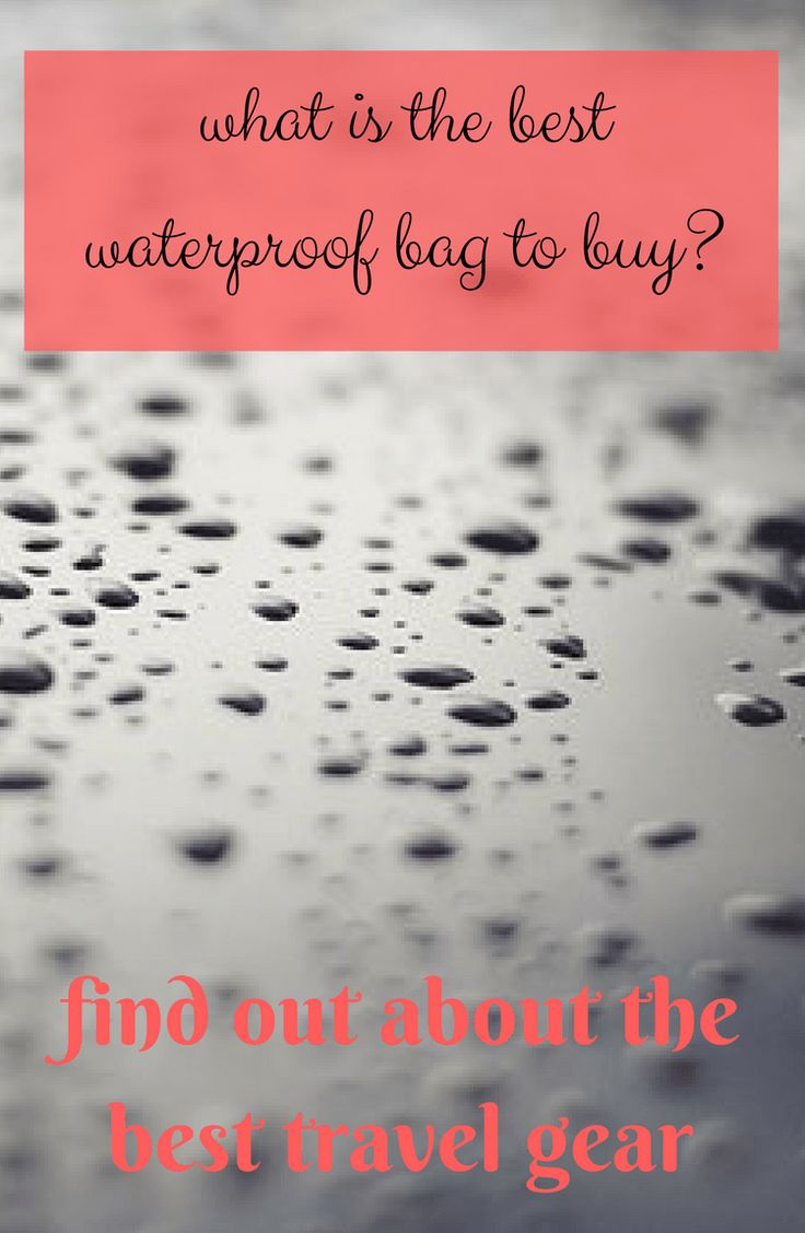 Are you looking to find the best waterproof bag for travelling! I have the answer for you here!