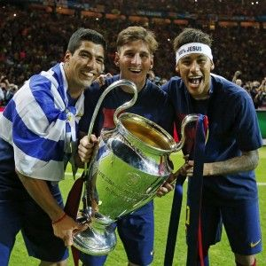 Messi, Neymar and Suarez a partnership made to succeed but why? We try to answer that question here: http://www.soccerbox.com/blog/messi-neymar-and-suarez-partnership/ And get a discount when you shop for FC Barcelona shirts at Soccer Box.
