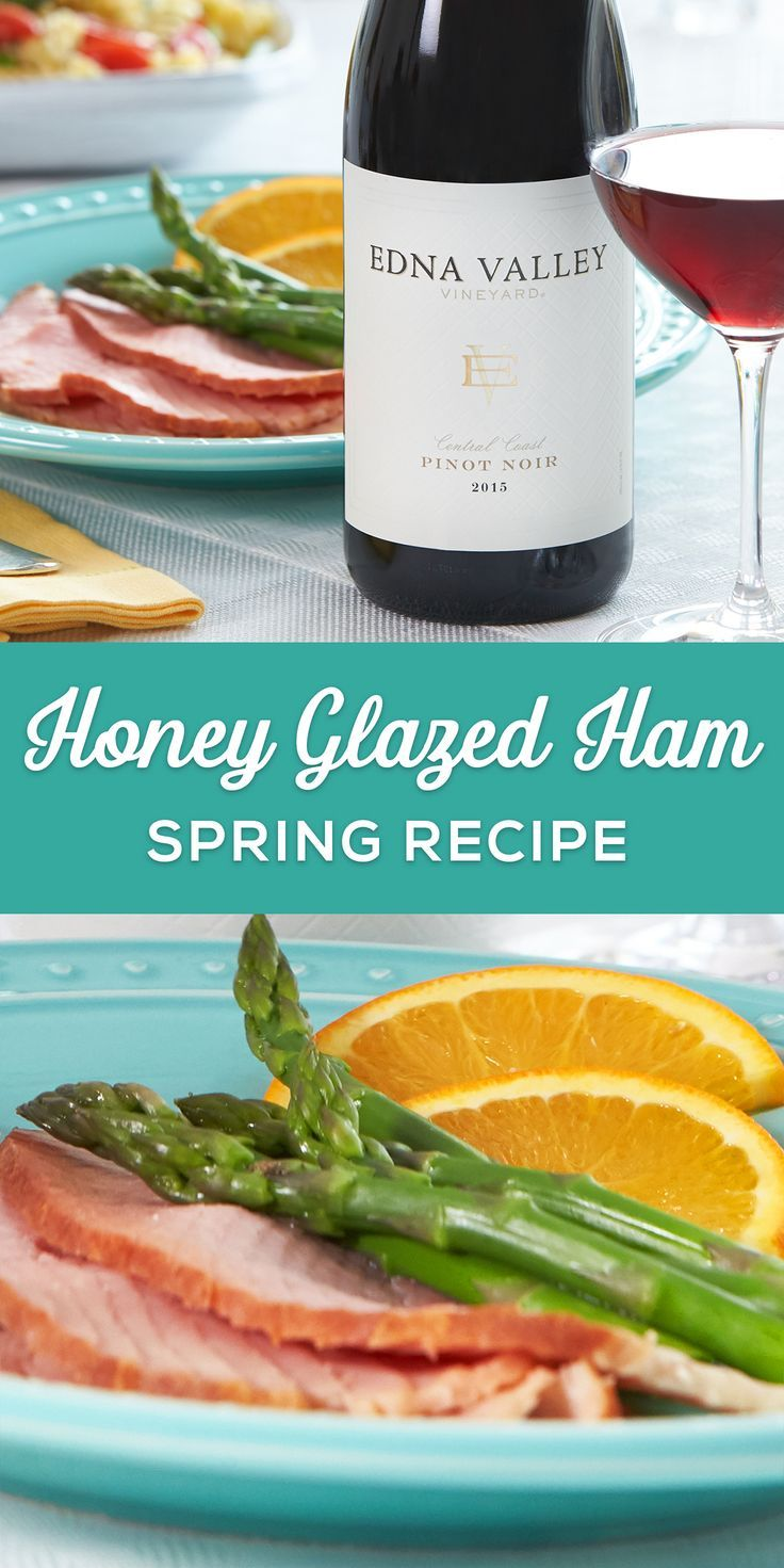 Sweet and tangy ham paired with our rich, light-bodied #EdnaValley Pinot Noir makes for a flawless spring combo. For more recipes and wine pairings, visit http://mo-pro.co/qrVPjg.