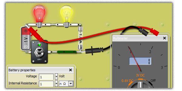 Simulation de circuits électriques en ligne // Simulate Electronics Circuits Online (virtual lab)
