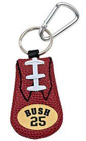 New Orleans Saints Reggie Bush Classic Football Keychain