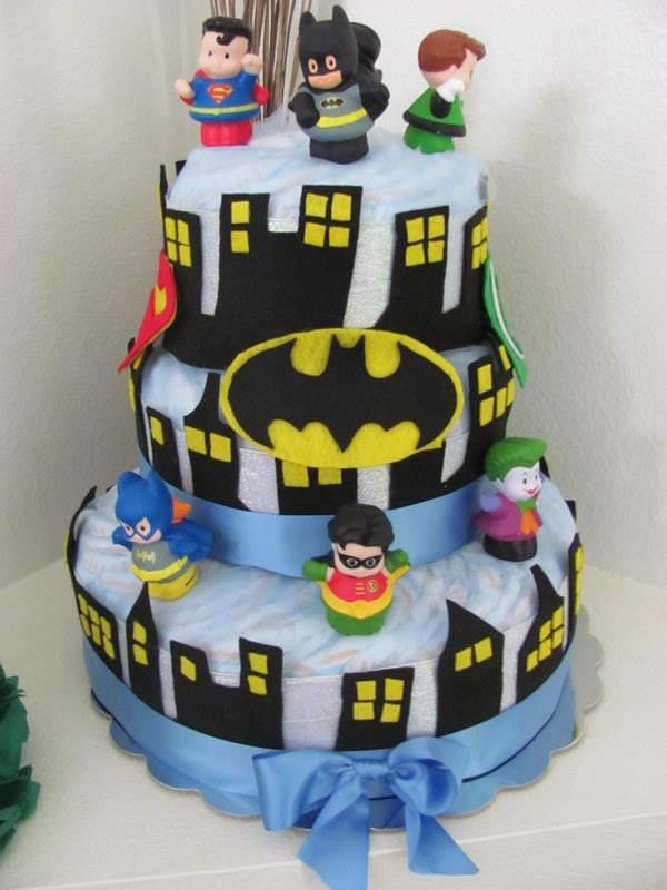 Superhero Diaper Cake (DC Comics) | Arts & Crafts ...