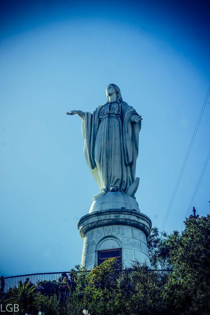 Virgen del cerro San Cristobal, Santiago de Chile.