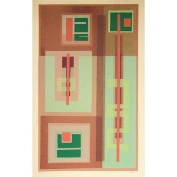 Check out this item at One Kings Lane! Geometric Abstract by Dave Fox