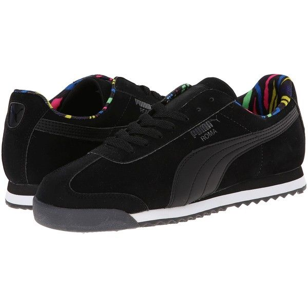 PUMA Roma NBK Zebra Women's Shoes, Black (645 ARS) ❤ liked on Polyvore featuring shoes, black, zebra shoes, laced shoes, lace up shoes, zebra print shoes and puma footwear